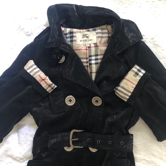 Black Burberry trench